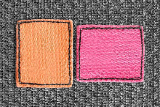 Blank clothing labels