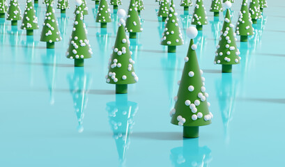 Obraz Christmas tree modern decoration background - fototapety do salonu