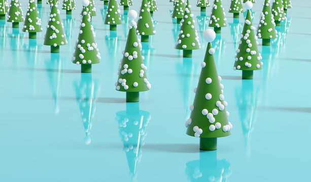 Christmas tree modern decoration background