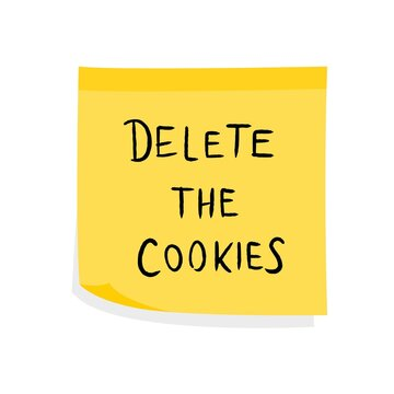 Delete the cookies sign