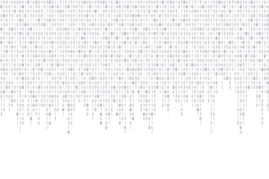 Binary background - cyber texture
