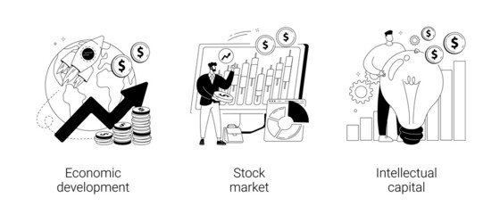 Global economy abstract concept vector illustrations.