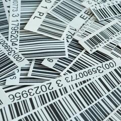 Obraz Kody kreskowe cen towarów w sklepach - fototapety do salonu