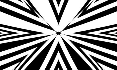 Obraz mystical black patterns on white background original op art - fototapety do salonu
