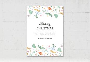 Obraz Simple Christmas Greetings Card Flyer - fototapety do salonu