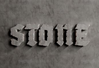 Obraz 3D Stone Text Effect on Concrete Texture Mockup - fototapety do salonu