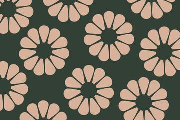 Obraz Kremowe kwiaty na zielonym tle - fototapety do salonu