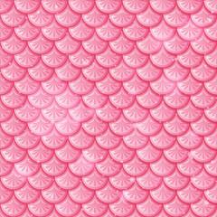 Pastel pink fish scales seamless pattern