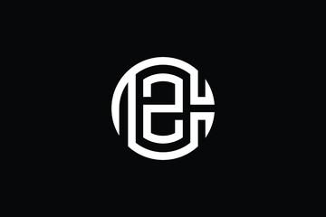 Fototapeta ZC logo letter design on luxury background. CZ logo monogram initials letter concept. ZC icon logo design. CZ elegant and Professional letter icon design on black background. C Z ZC CZ obraz