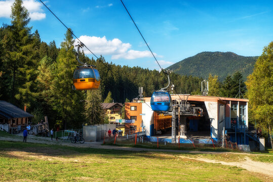 Station of cablecar in resort Malino Brdo ski and bike park