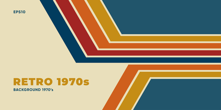 Minimal retro background with colroful stripes. Eps10 vector.