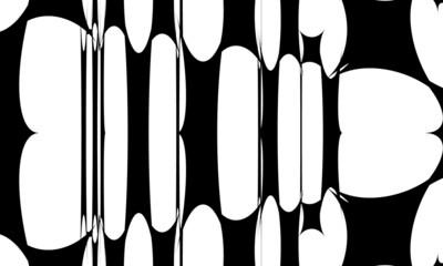 Obraz Mysterious black pattern mystical monochrome wallpaper in the style of op art - fototapety do salonu