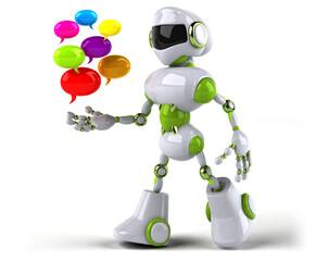 Obraz Green robot - 3D Illustration - fototapety do salonu