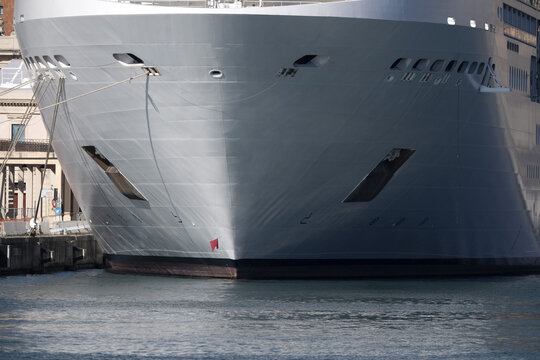 cruise ship prow bow detail
