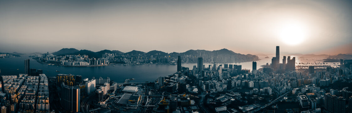 Hong Kong Cityscape in panorama view