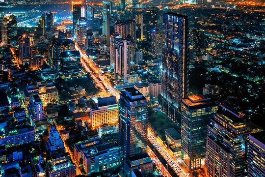 Sathorn district in Bangkok