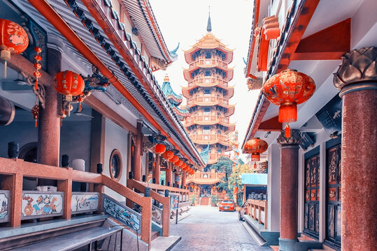 Che Chin Khor Chinese style Temple and Pagoda in Bangkok, Thailand