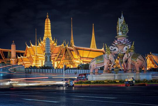 Grand Palace in Bangkok at night