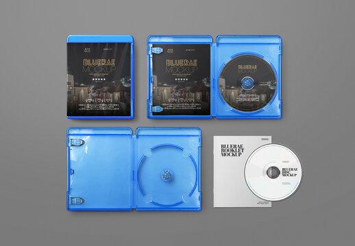 Blue DVD Case Mockup