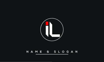 Obraz IL,  LI,  I,  L   Abstract Letters Logo Monogram - fototapety do salonu