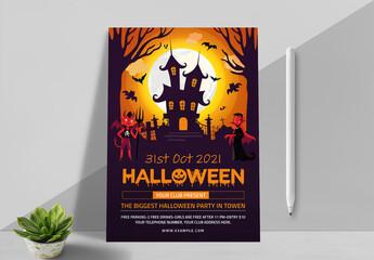 Obraz New Halloween Party Flyer - fototapety do salonu