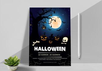 Obraz New Halloween Party Flyer Layout - fototapety do salonu