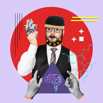 Collage d'Art, la science de la médecine