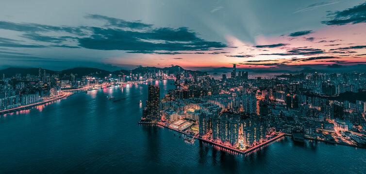 Hong Kong Cityscape at panorama  view