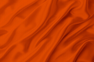 orange color satin silk with waves, abstract background luxury cloth, elegant wallpaper...