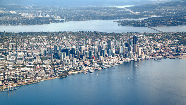 Seattle, Washington: Aerial View of the City
